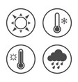 seasons icon design simple rounded weather icons vector image vector image