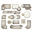 set of grey progress version step icons vector image vector image