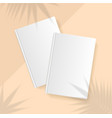 shadow plant overlay palm leaf effect realistic vector image vector image