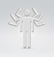 Silver mega manager male icon vector image vector image