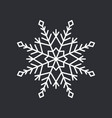 snowflake crystal on black vector image vector image