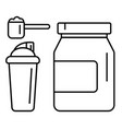 sport nutrition supplement drink linear vector image