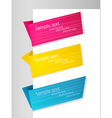 Three origami banners vector | Price: 1 Credit (USD $1)
