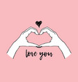 trendy gesture - heart made with hands vector image vector image