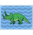 vintage grunge background with dinosaur vector image vector image