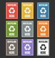 waste sorting labels set waste managment for vector image vector image