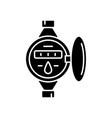 water meter black glyph icon vector image