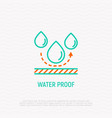 waterproof material thin line icon vector image