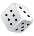 White dice vector image
