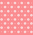 white flower decorative abstract seamless pattern vector image