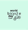 world bicycle day celebration template design vector image vector image