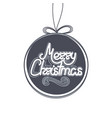 lettering in christmas toy xmas and new year vector image