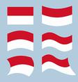 Monaco flag Set of flags of Monaco Republic in vector image