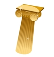 Golden Greek single column in cartoon style vector image