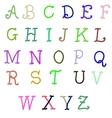 abc Hand Drawn Calligraphy Alphabet vector image