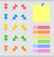a set of colored sticky bookmarks and office vector image vector image