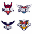 american football logo badge vector image vector image