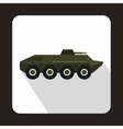 Armored troop-carrier icon flat style vector image vector image