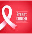 awareness month for breast cancer disease poster vector image vector image