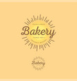 bakery logo morning pastries vector image