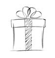 Big gift box isolated on white background vector image
