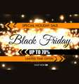 black friday glow sparkling web banner black text vector image vector image