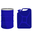 Blue barrel and canister vector image vector image