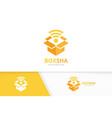 box and wifi logo combination package and vector image vector image