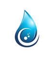 c water drop logo vector image vector image