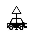 car vehicle with traffic signal transport vector image