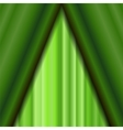 Cinema Closed Green Curtain vector image vector image