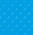 circular saw pattern seamless blue vector image vector image