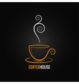 coffee cup ornate design background vector image vector image