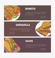 collection of horizontal web banners with various vector image vector image