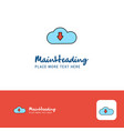 creative downloading logo design flat color logo vector image vector image