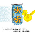 cryptocurrency mining concept vector image