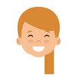 cute and little girl head vector image vector image