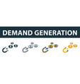 demand generation icon set premium symbol in vector image vector image