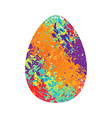 Easter egg Traditional Easter egg on white vector image vector image