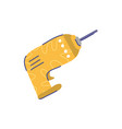 electric drill tools repair construction line and vector image