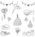 Element birthday art doodle vector image vector image