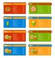 Fast Food Menu Banners vector image vector image