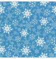 Festive seamless pattern with ornate snowflakes vector image vector image