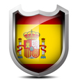 Flag of Spain metal shield vector image vector image