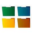 folders vector image vector image
