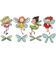 Four fairies vector image vector image