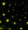 gold stars black night sky background abstract vector image