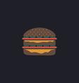 hamburger computer symbol vector image vector image