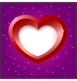 Heart shape object vector image vector image