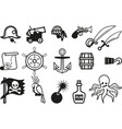 icon pirates set vector image vector image